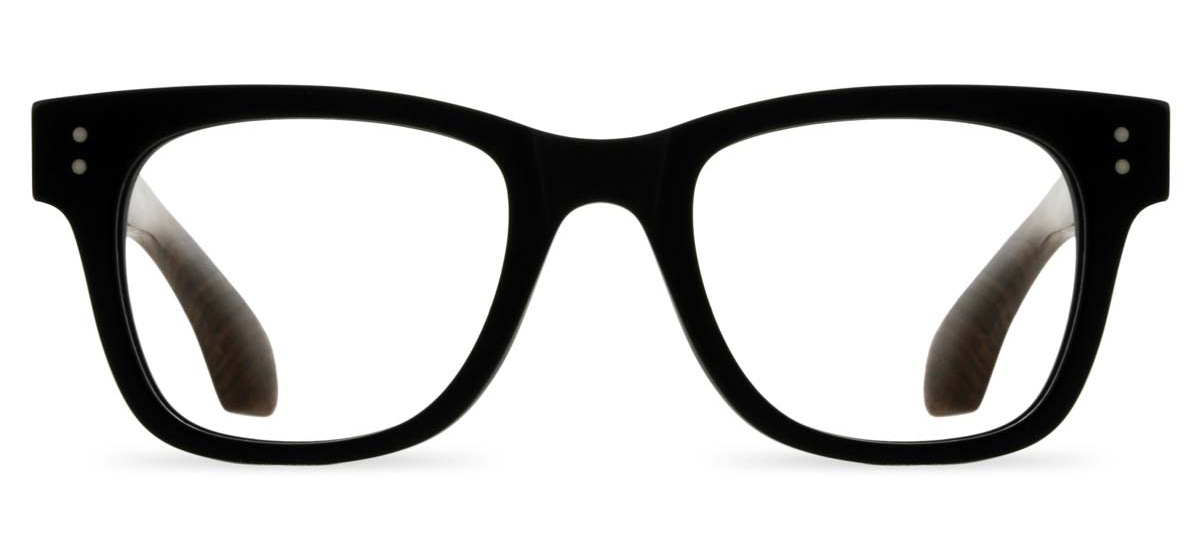 085fdc7e6a Wooden Thick Framed Glasses - Tribe in Matte Black