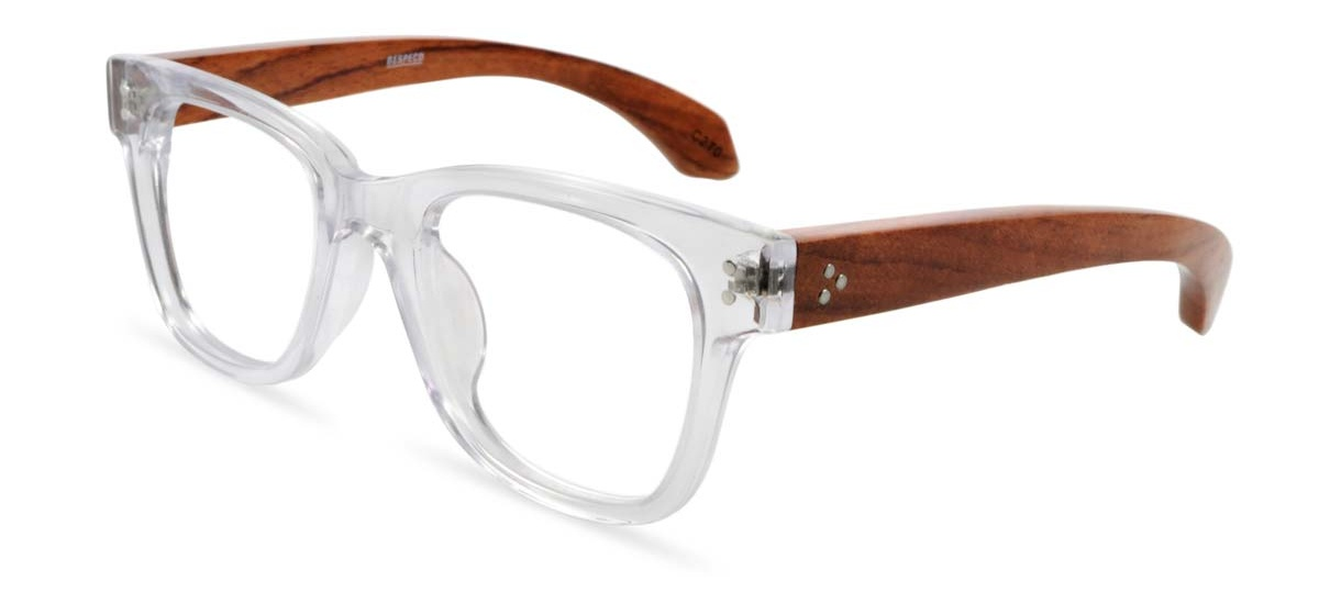 wooden prescription glasses frame tribe in