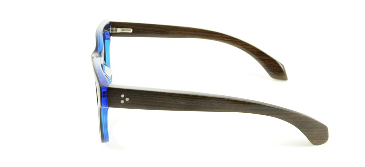 Wooden Prescription Glasses Frame - Tribe in Midnight Blue ...