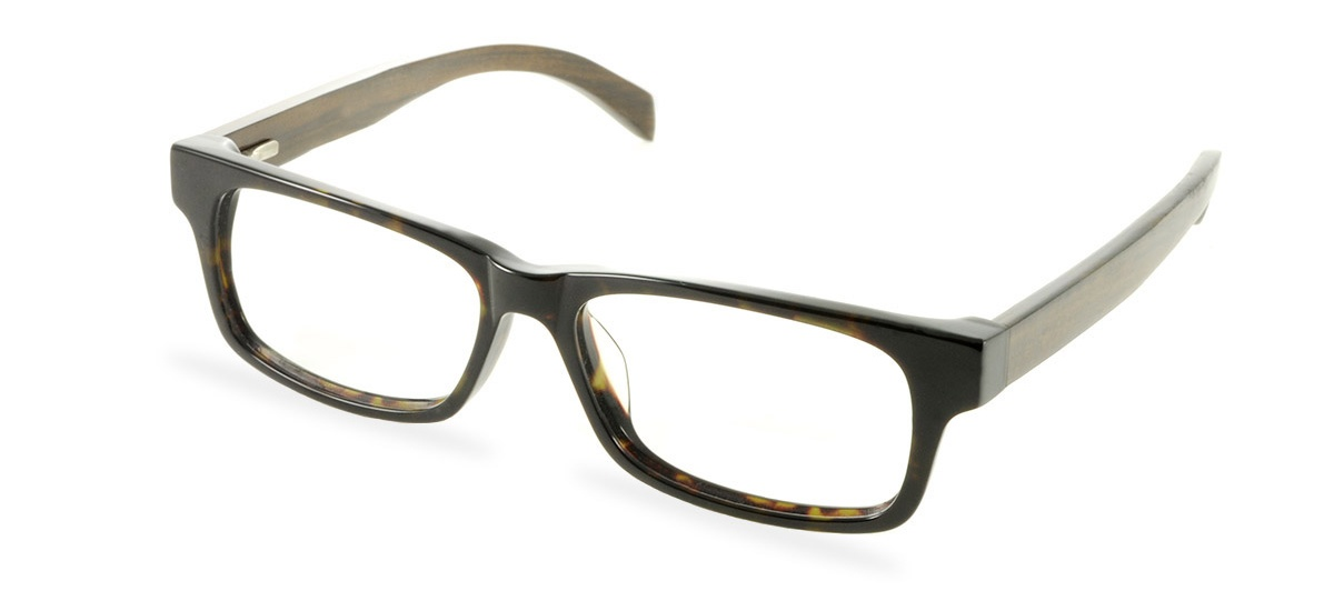 Wooden Prescription Glasses Frame - Vale Darkest Tortoise ...