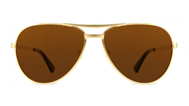 Gold Prescription Aviators Sunglasses