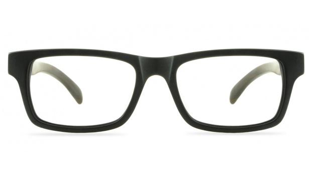 Black Matte Wooden Frame Glasses
