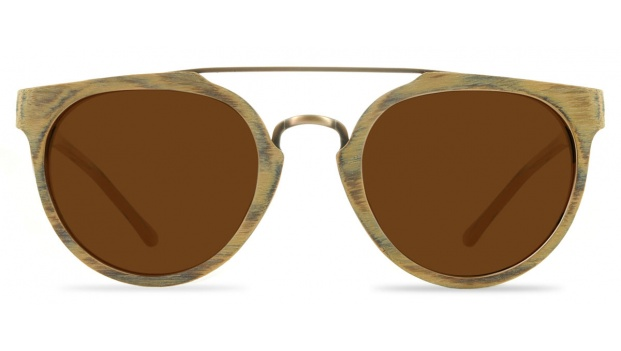 Faux Wooden Bamboo Sunglasses