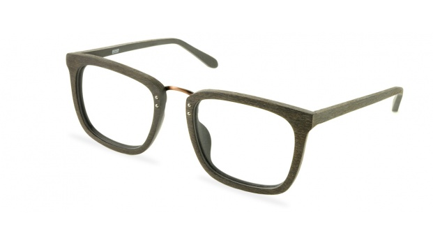 Oak Wooden Eyeglasses with Metal Bridge