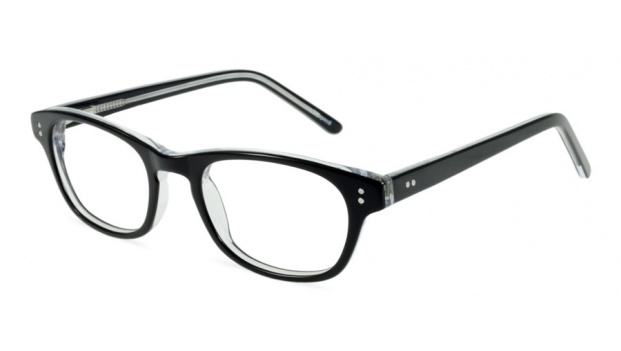 Small Black Retro Optical Glasses Frame
