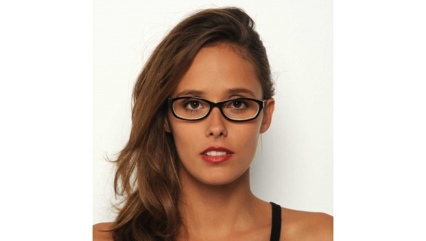 Womens Black and White Optical Glasses