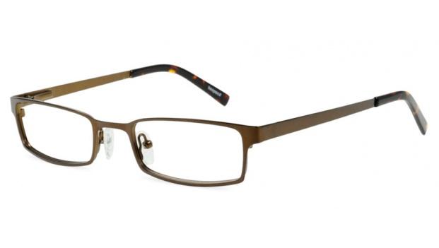 Brown Metal Rectangle Glasses Frame