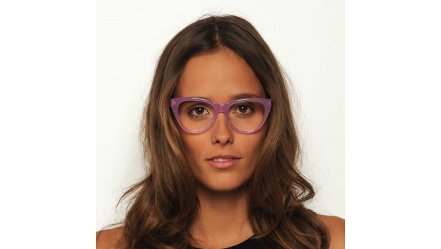 Pink Retro Cats Eye Glasses