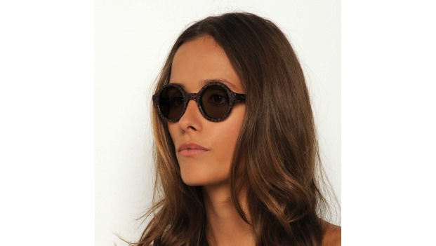 Small Round Leopard Sunglasses
