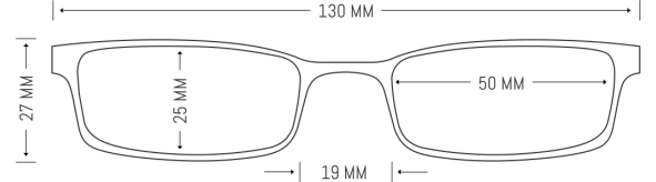 Metal Rectangle Glasses Frame