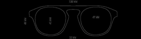Cool Retro Plastic Aviator Frames