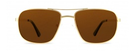 Gold Square Aviator Prescription Sunglasses