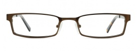 Brown Metal Rectangle Glasses Frame