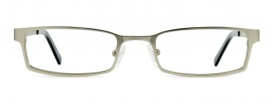 Small Rectangle Silver Metal Glasses Frame