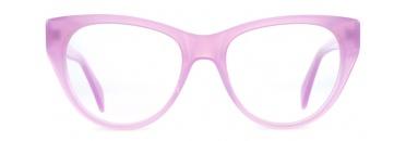 Pink Retro Cats Eye Glasses