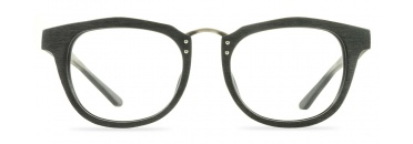 Black Faux Wood Optical Glasses