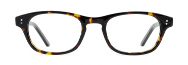 Tortoise Retro Glasses Frame with Keyhole Bridge