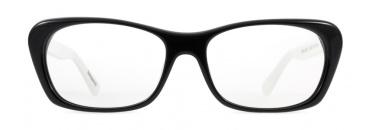 Black and White Cat Eye Frame