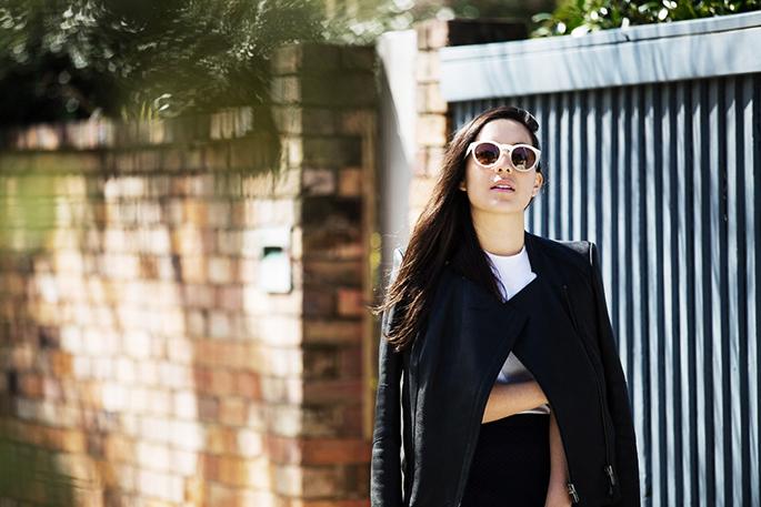 Tarra Wearing Bespecd Treviso Round Sunglasses