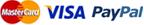 visa mastercard amex paypal