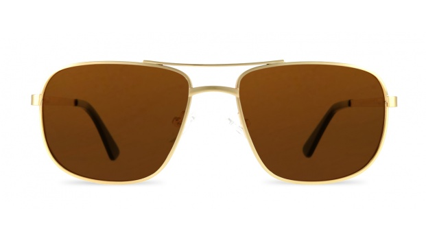 Gold Square Aviator Prescription Sunglasses