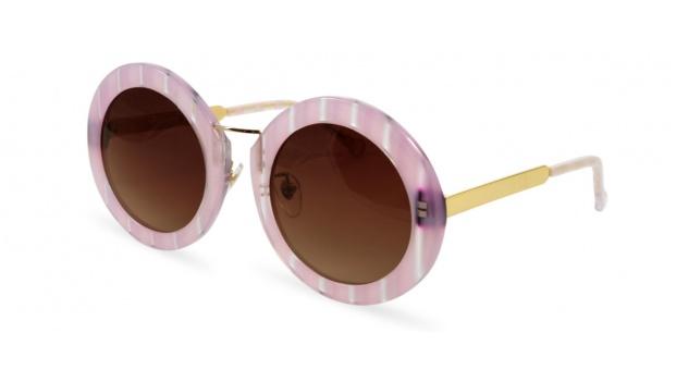Large Oversized Round Pink Sunglasses