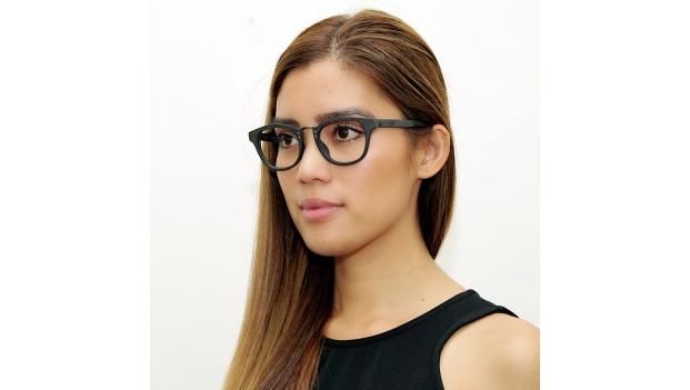 Black Faux Wood Optical Glasses