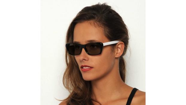 Black and White Cat Eye Sunglasses