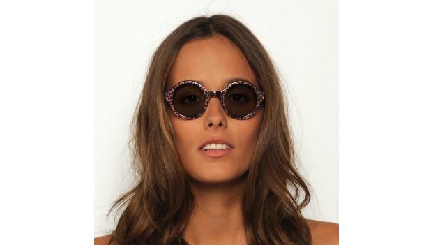 Small Round Leopard Sunglasses