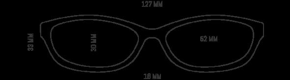 Womens Black and White Optical Glasses