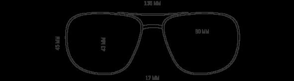 Square Aviator Prescription Sunglasses