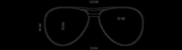 Gold Prescription Aviators Sunglasses