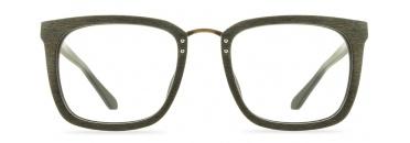 Oak Wooden Eyeglasses with Metal Bridge