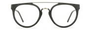 Black Wood Eyeglasses with Metal Bar